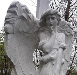 Angel with a flower, Moscow